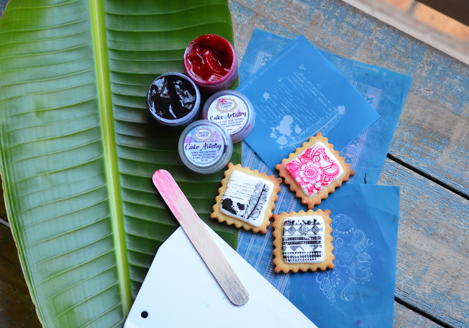 Fun with Cookies and Stencils….