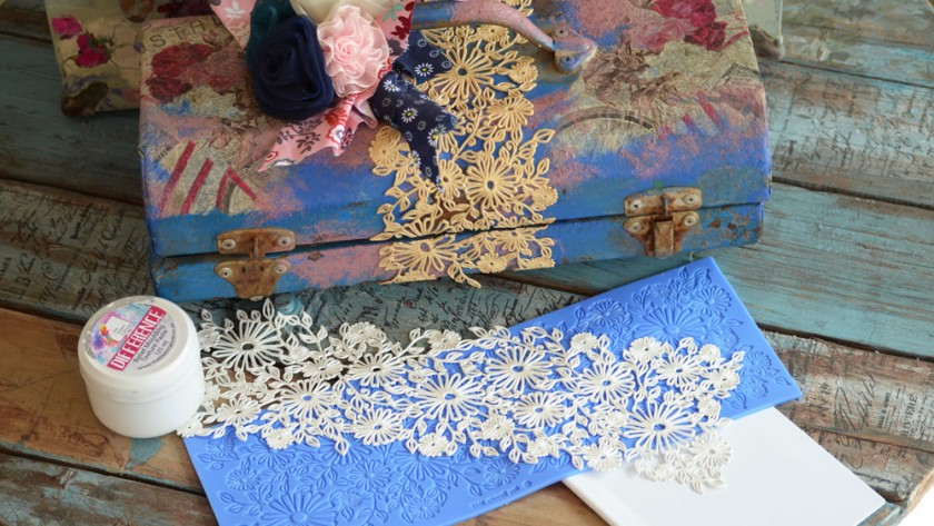 TUTORIAL: How to make flexible, waterproof lace embellishments for scrapbooking, journaling & crafting