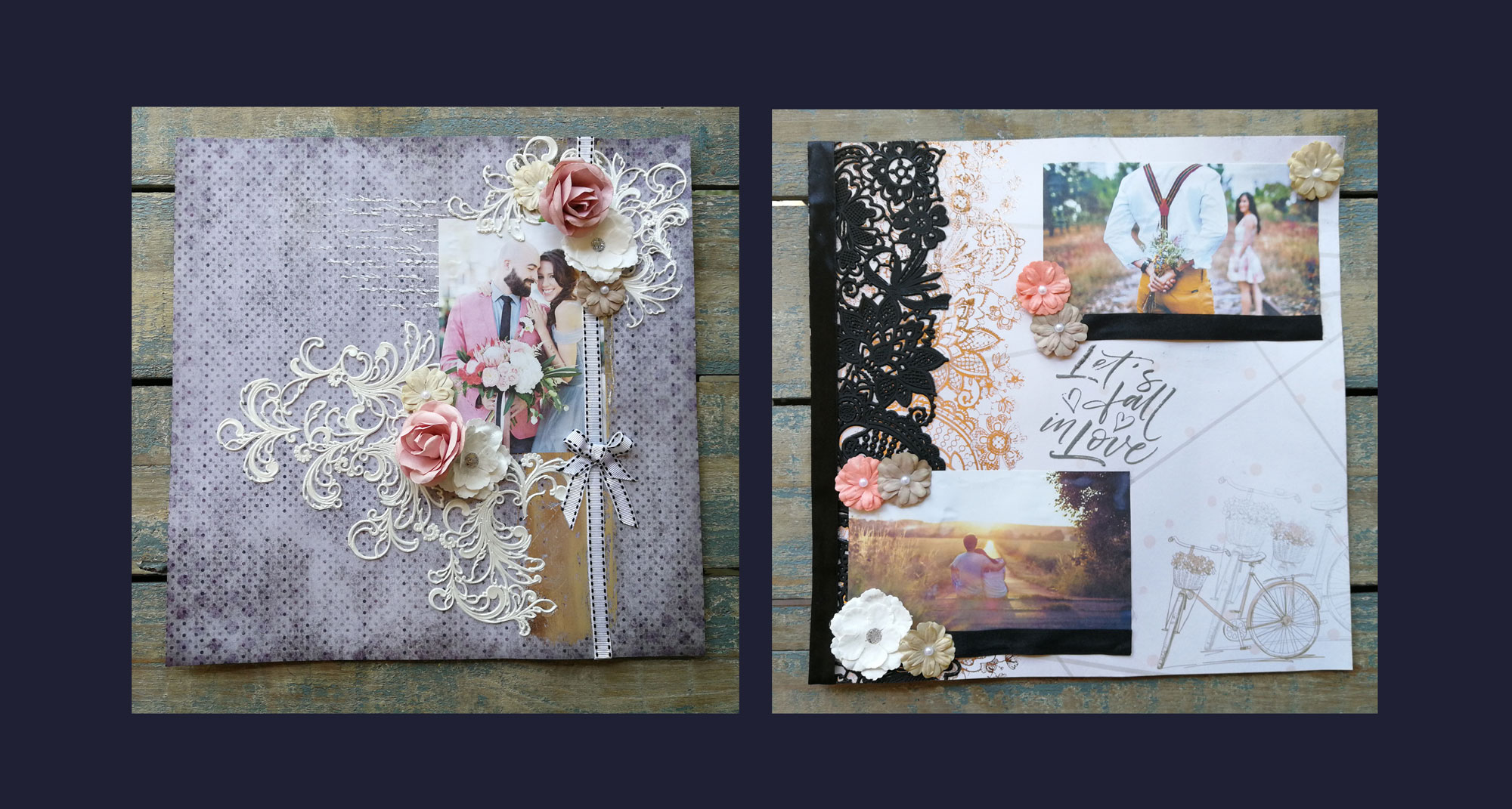 Scrapbooking with The Blanc Canvas products