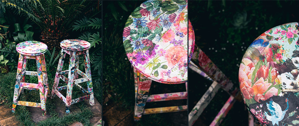 How to brighten up old furniture using serviettes